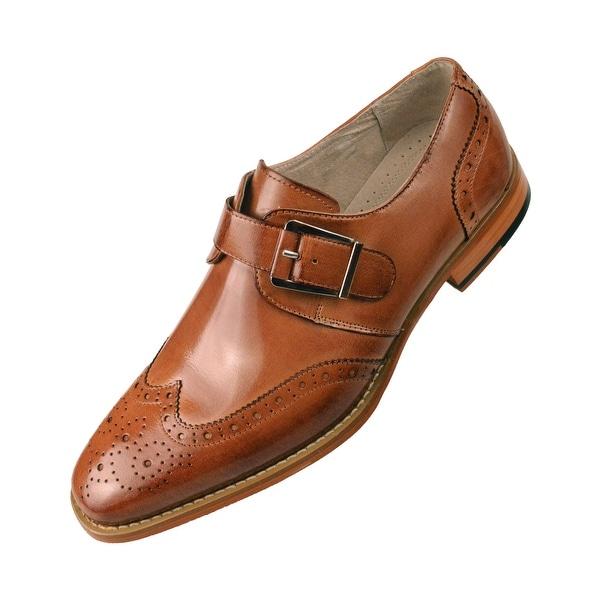 4a76855a0681e Shop Asher Green Mens Leather Dress Shoe Monkstrap - Free Shipping ...