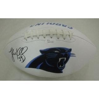 Luke Kuechly Autographed Carolina Panthers White Logo Football JSA