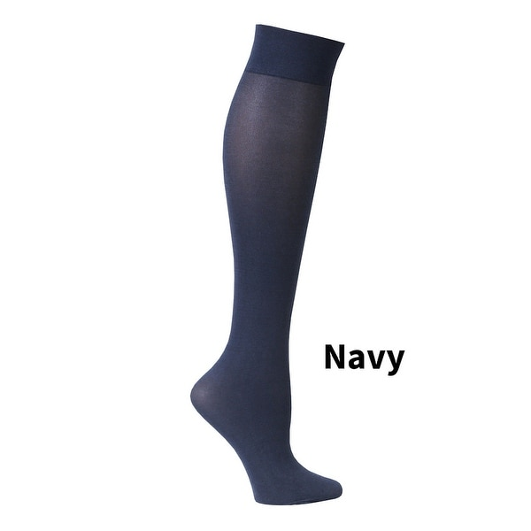 Women's Subtle Patterned Mild Compression Hose/Wide Calf Socks