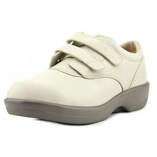 Apex 1264WW09 Men W Round Toe Leather Gray Sneakers