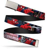 Ultimate Spider Man Blank Chrome  Buckle The Ultimate Spider Man Web Belt - S
