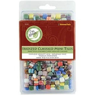 "Classico Mini Iridized Tile Mix 5/16"" 16Oz/Pkg-Assorted Colors"