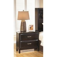Kira Two Drawer Night Stand Almost Black Kira Two Drawer Night Stand Almost Black