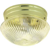 """Nuvo Lighting 76/250 1-Light 7-1/2"""" Wide Flush Mount Bowl Ceiling Fixture - Polished Brass - N/A"""