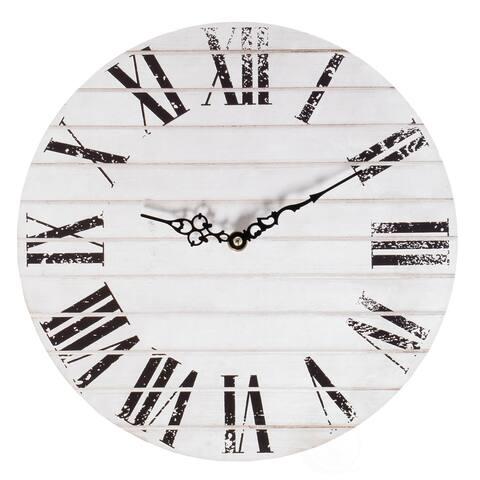 Roman Numeral Home Decor Wall Clock Unique Handle Design Living Room