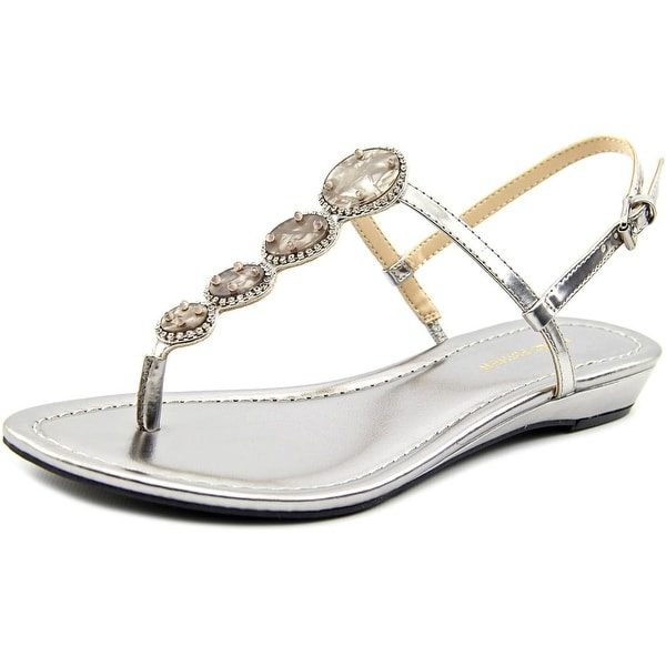 Marc Fisher Gizelle Women Open-Toe Synthetic Silver Slingback Sandal