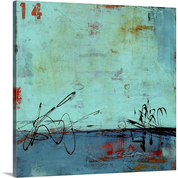 """Blue Bay Marina II"" Canvas Wall Art"