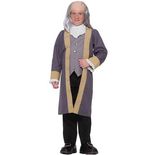 Forum Novelties Classic Ben Franklin Child Costume (M) - Brown - Medium