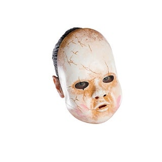Disguise Baby Doll Adult Vinyl Mask - White
