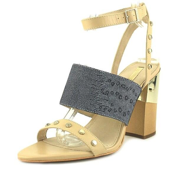 Louise et Cie KELLYN Women Open-Toe Leather Tan Slingback Heel