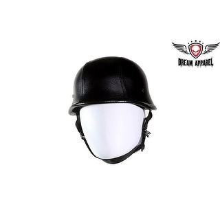 Leather Cover German Style Novelty Motorcycle Helmet Size S