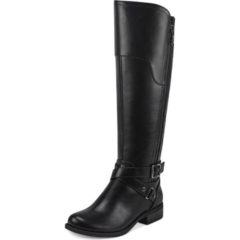G by Guess Womens Haydin Riding Boots Faux Leather Wide Calf