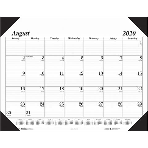 "Economy Academic Monthly Desk Pad Calendar, 17 Months August-December, 22"" x 17"" - One Size"