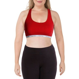 Link to Calvin Klein Womens Sports Bra Fitness Running - Red/Grey Similar Items in Intimates