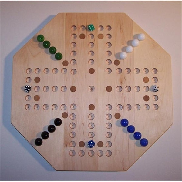 20 In Octagon Aggravation Wooden Marble Game Board With 16 Birch