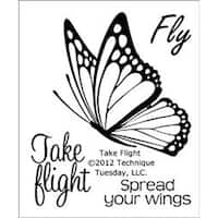 """Take Flight - Technique Tuesday Clear Stamps 2""""X2.5"""""""