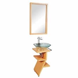 Bathroom Wood Stand Pedestal Sink Towel Bar