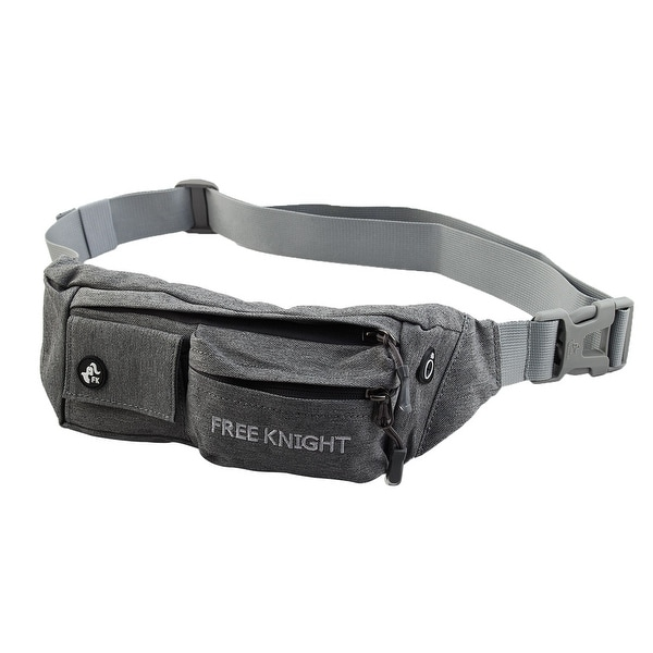 FreeKnight Authorized Running Jogging Phone Holder Sports Pouch Waist Bag Gray