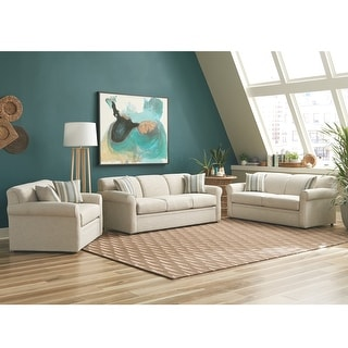 Link to Belgian Ivory Sofa Bed with Gel Memory Foam Mattress Similar Items in Sofas & Couches