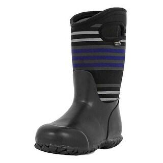 Bogs Boots Boys Kids Durham Stripes Pull On Waterproof