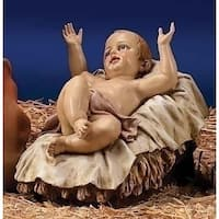 "39"" Scale Joseph's Studio Baby Jesus Christmas Nativity Outdoor Statue in Color - White"