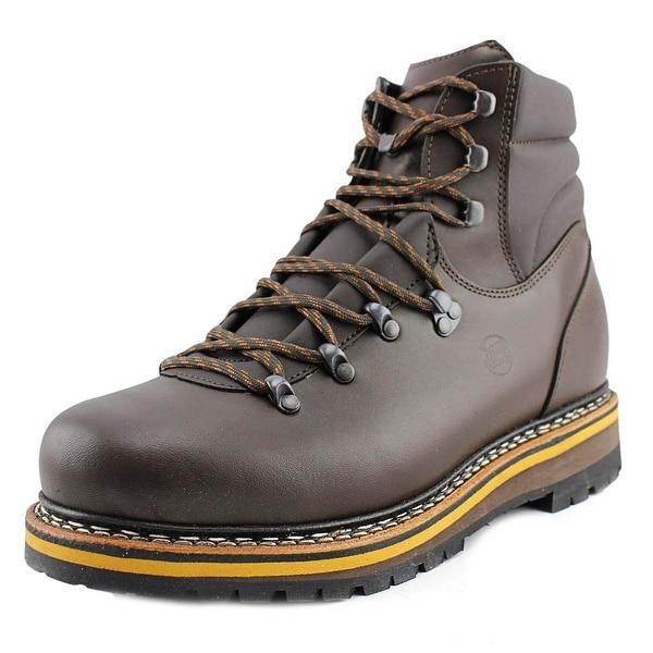 e7c2818e569 Shop Hanwag Grunten Men Round Toe Leather Brown Hiking Boot - Ships ...
