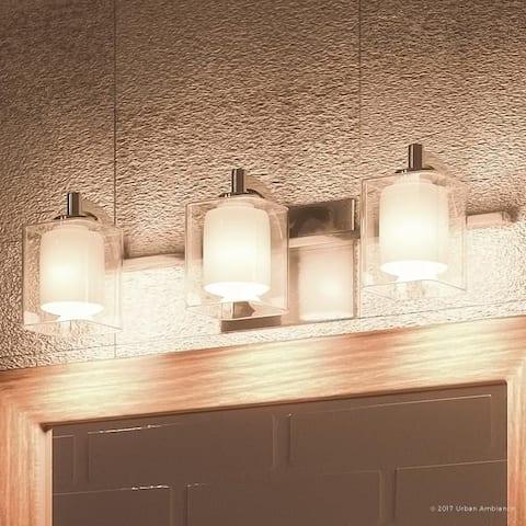 "Luxury Modern Bathroom Vanity Light, 6""H x 21""W, with Posh Style, Polished Chrome Finish"