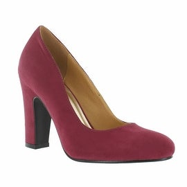Red Circle Footwear 'Sybil' Chunky Heel Pump in Wine
