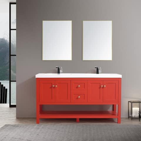 "Winslow 60"" Double Bathroom Vanity Set"