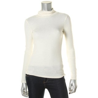 Aqua Womens Ribbed Knit Turtleneck Pullover Sweater