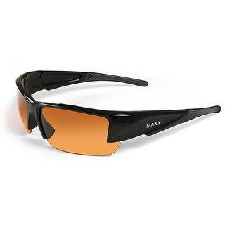 Maxx Sunglasses Stealth 2.0 Black Frame HD Amber Lenses