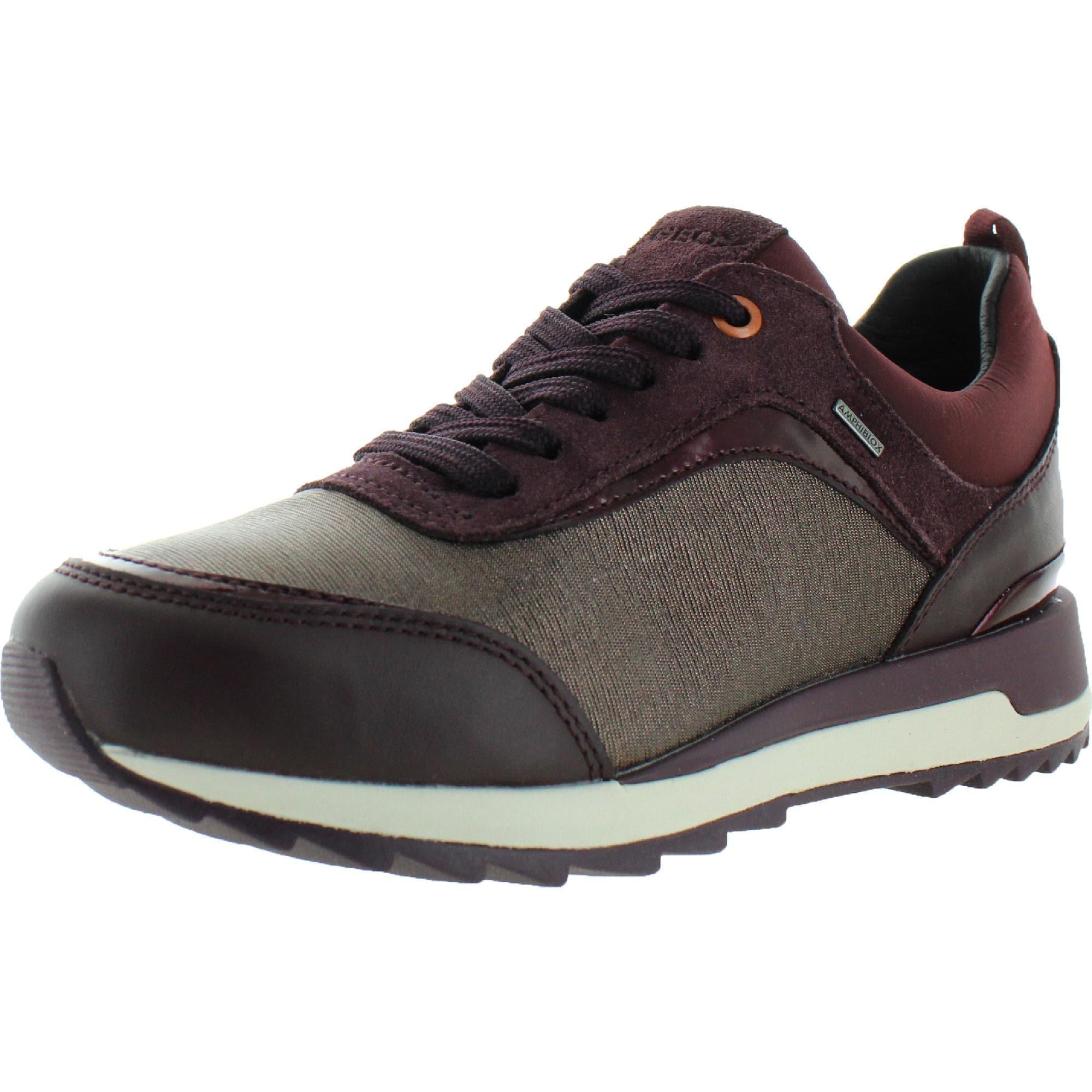 Cuervo Meseta Enfatizar  Geox Respira Womens Aneko Fashion Sneakers Suede Metallic - Coffee/Dark  Burgundy - Overstock - 32054017
