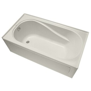 "Mirabelle MIRPRS6032L Provincetown 60"" X 32"" Three-Wall Alcove Soaking Tub with Left Hand Drain"