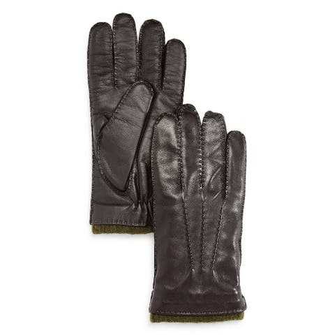 The Men's Store Gloves Brown Size Large L Winter Three Cord Leather