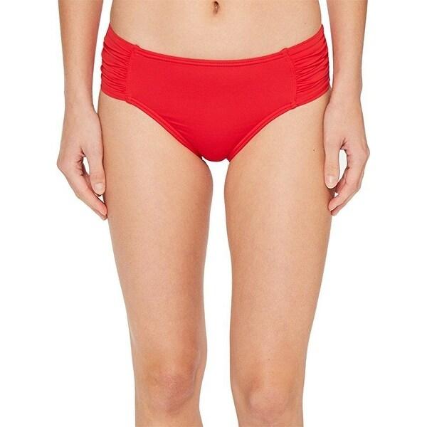 d8753b8da21be Shop Tommy Bahama Women s Pearl High-Waist Side-Shirred Bikini Bottom Sz L  - Free Shipping On Orders Over  45 - - 27067402
