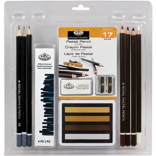 Clamshell Art Sets-Pastel Pencil 17pc