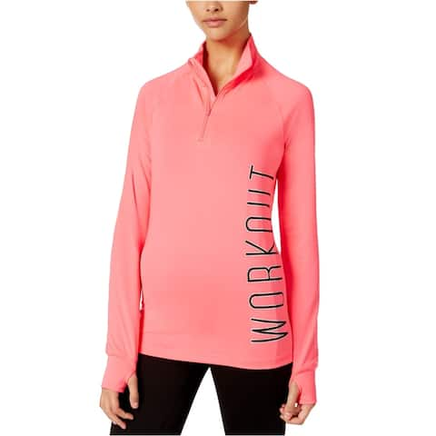 Material Girl Womens Active Half-Zip Track Jacket, Pink, XX-Small