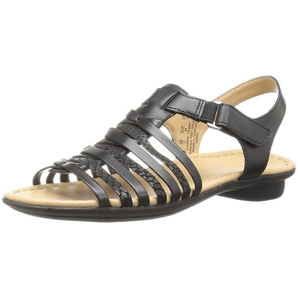 Naturalizer Womens Wade Leather Open Toe Casual Strappy Sandals