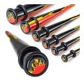 UV Acrylic Flame Inlayed Multi Colored Taper with Orings (Sold Individually) - Thumbnail 0