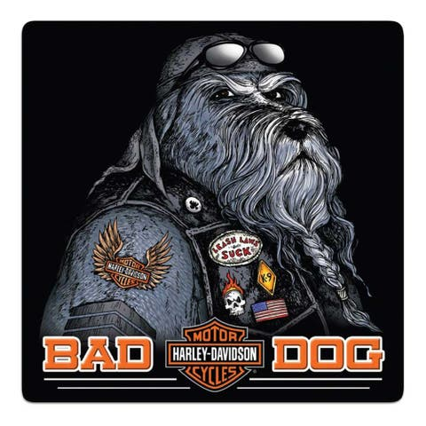 "Harley-Davidson Bad Dog Bar & Shield Embossed Tin Sign, 14.5 x 14.5 inch 2011791 - 14.5"" x 14.5"""