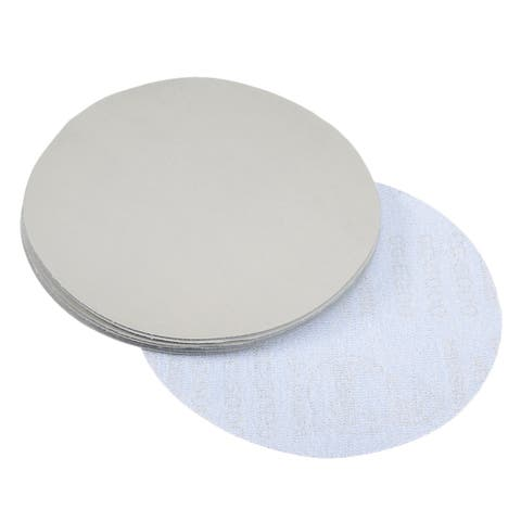 10 Pcs 7-Inch Aluminum Oxide Gray Dry Hook and Loop Sanding Discs 5000 Grit - 5000 Grits