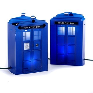 Set of 5 Flickering Light Doctor Who Police Telephone Luminary Pathway Markers