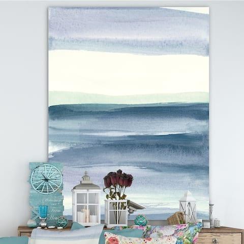 Porch & Den Mint Indigo Dawn I' Farmhouse Canvas Art - Blue