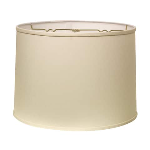 Cloth & Wire Slant Retro Drum Hardback Lampshade with Washer Fitter, Egg