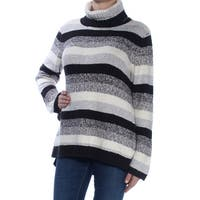 KENSIE Womens Gray Striped Long Sleeve Turtle Neck Sweater  Size: XS