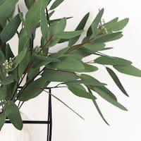 "FloralGoods Artificial Eucalyptus Long Oval Leaf Stem 32"" Tall"