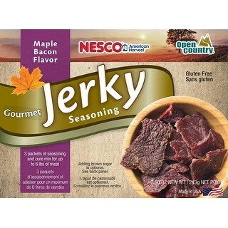 Nesco BJM-6, Gourmet Jerky Seasoning, Bacon Maple Flavor, Includes 3 Seasoning and 3 Cure Packets