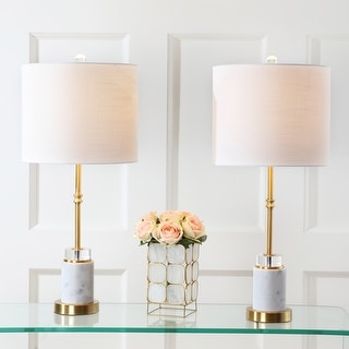 Link to Harper Marble/ Crystal LED Table Lamp (Set of 2) by JONATHAN Y Similar Items in Table Lamps
