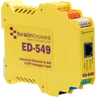 """Brainboxes ED-549 Brainboxes Ethernet to Analogue 8 Inputs - 1 x Network (RJ-45) - 1 x Serial Port - Fast Ethernet -"