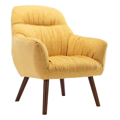 Corvus Cumbria Mid-century Linen Arm Chair